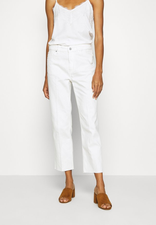 Straight leg jeans - cream
