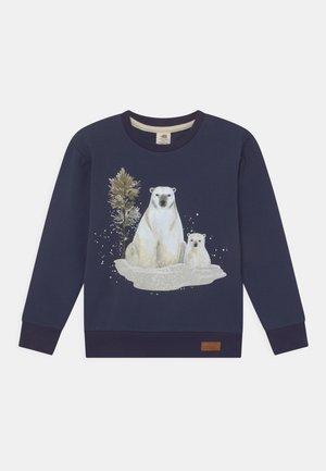 POLAR BEAR FAMILY PLACEMENT PRINT UNISEX - Sweatshirt - dark blue