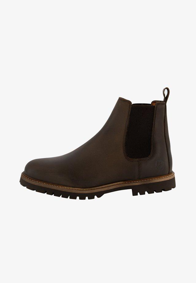 SKJERN - Korte laarzen - dark brown