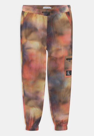 DISTORTED TECHNICAL ZIP - Tracksuit bottoms - multi-coloured