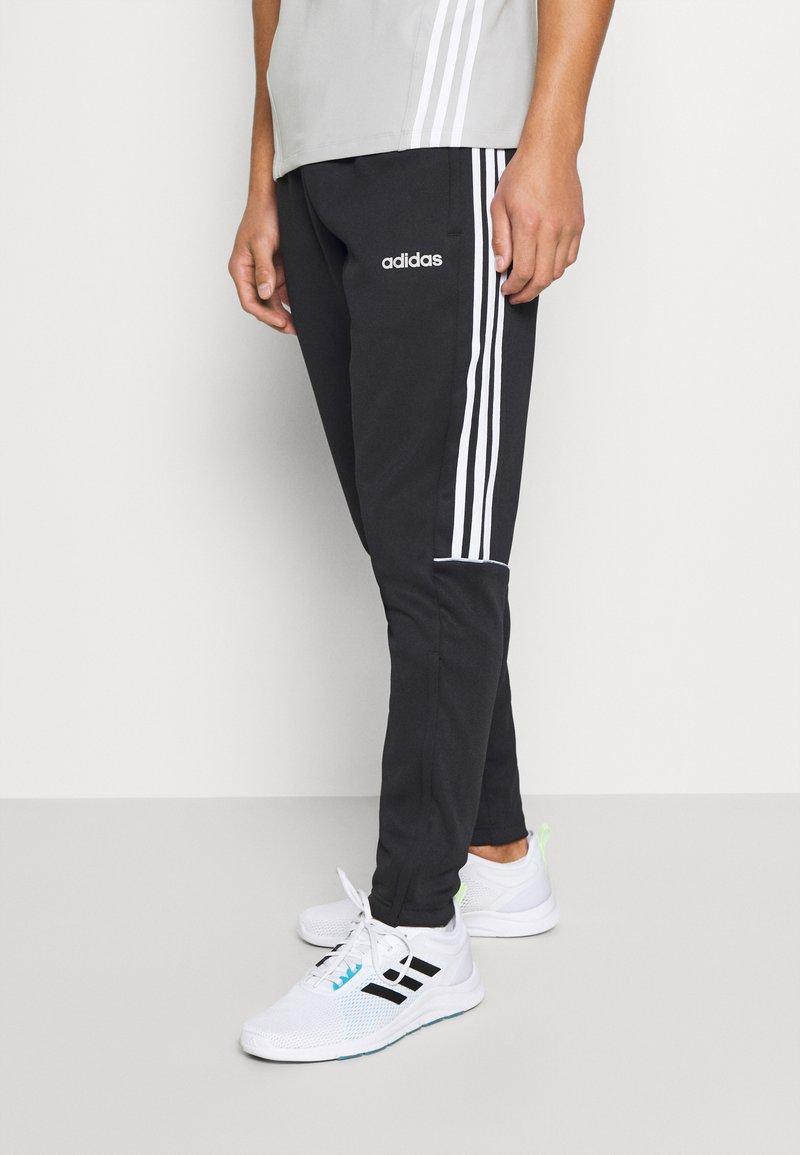 adidas Performance - SERENO AEROREADY TRAINING SPORTS SLIM PANTS - Träningsbyxor - black/white