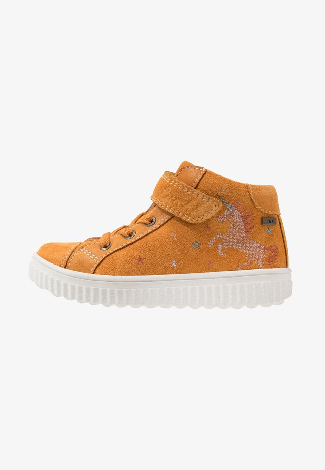 YUNA TEX - Sneakers hoog - yellow