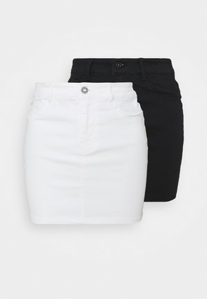 VMHOTSEVEN SHORT SKIRT 2 PACK - Minihame - black/bright white