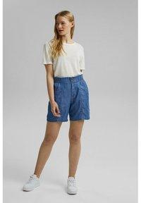 Esprit - Denim shorts - blue medium wash - 1