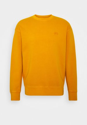 AUTHENTIC LOGO CREWNECK - Felpa - dark yellow