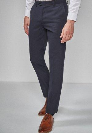SUIT TROUSERS - Pantaloni eleganti - mottled anthracite