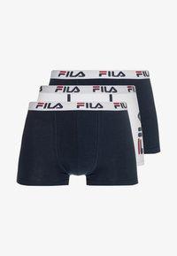 Fila - 3 PACK TRUNK - Underkläder - white/navy - 3