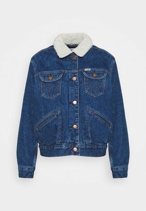 SHERPA FRIENDS  - Denim jacket - pebble sand
