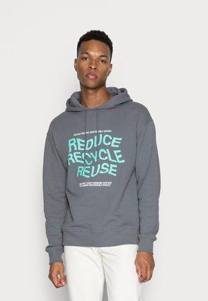 REDUCE PRINT HOODIE - Sweatshirt - dark grey