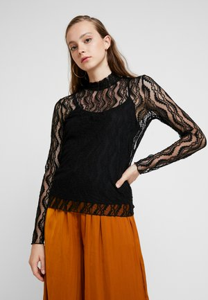 VMANJI HIGHNECK - Blouse - black