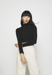 Nly by Nelly - LIGHT CROP  - Longsleeve - black - 0
