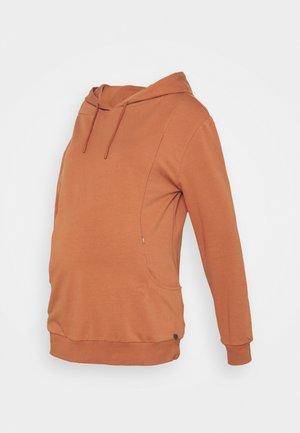 HOODY NURSING POCKETS - Sweater - rusty