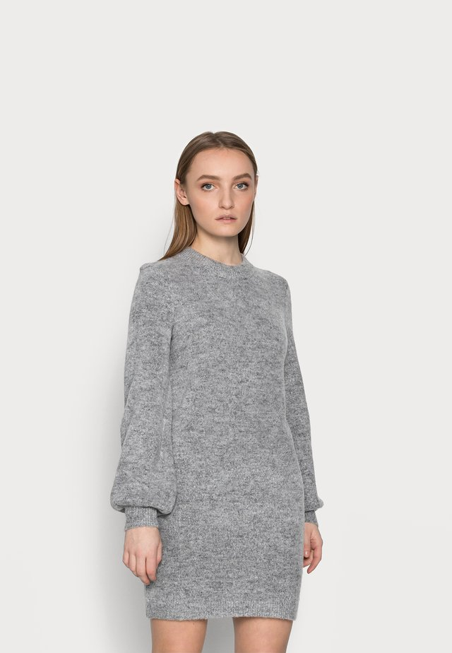 OBJEVE NONSIA DRESS  - Abito in maglia - light grey melange