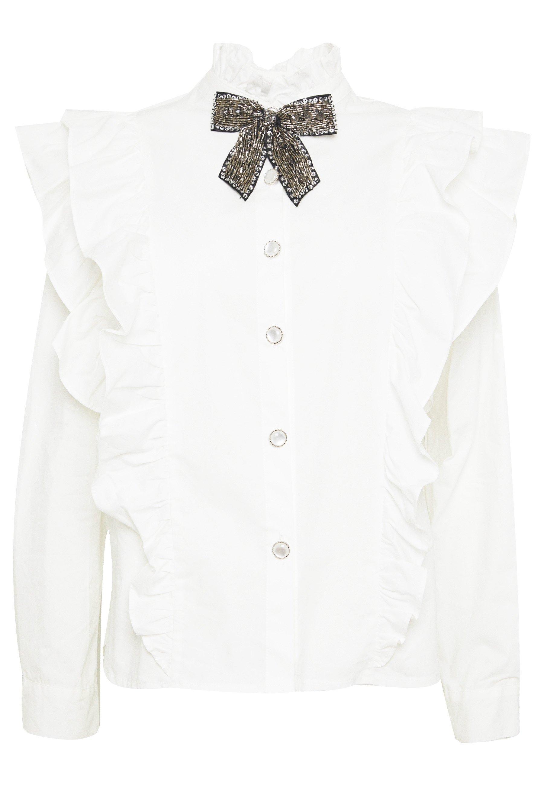 Sister Jane FOAL EMBROIDERED RETRO BLOUSE Skjorte ivory