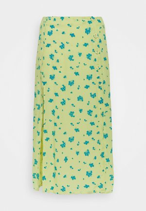 MIDI SKIRT - Pencil skirt - yellow