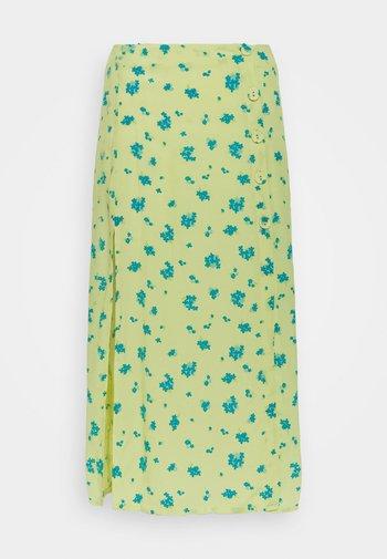 MIDI SKIRT - Pencil skirt - yellow