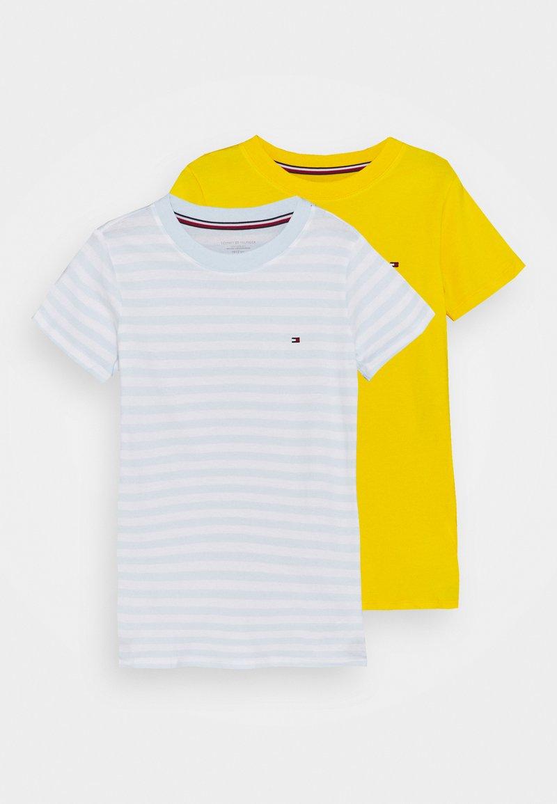 Tommy Hilfiger - TEE 2 PACK - Undershirt - luminous blue/primary yellow