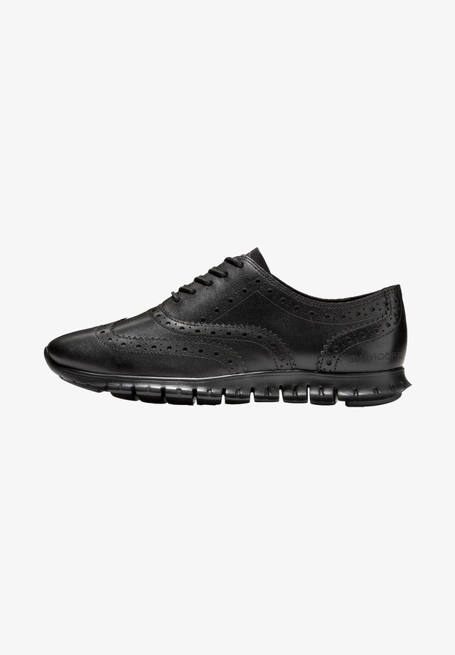 Veterschoenen - black leather