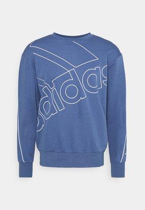 Sweatshirt - crew blue/white