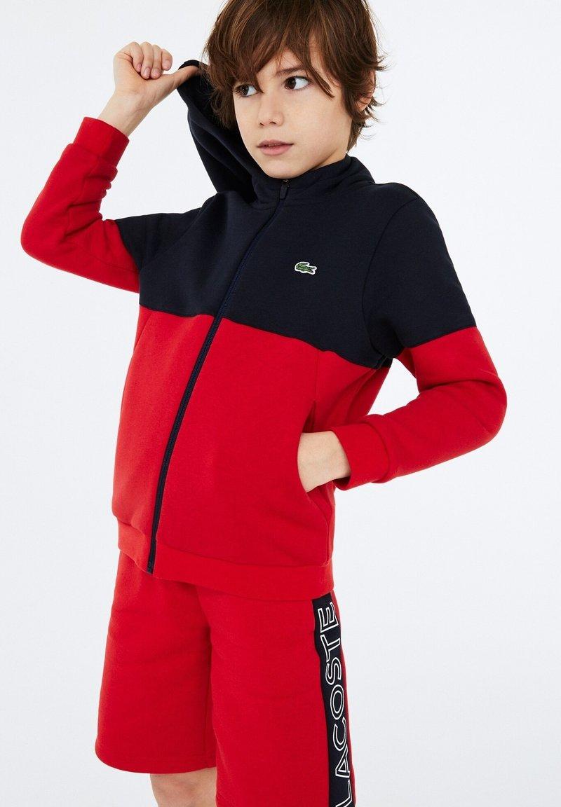 Lacoste Sport - veste en sweat zippée - bleu marine / rouge / blanc