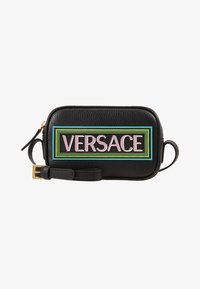 Versace - BORSA C/TRACOLLA E PATCH - Across body bag - nero - 1