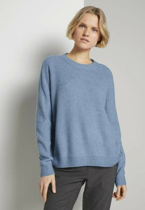Jumper - soft mid blue melange