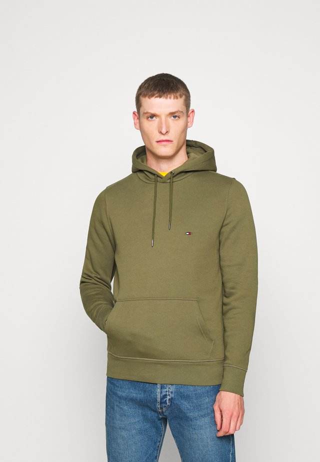 BASIC FLAG HOODY - Sweat à capuche - green