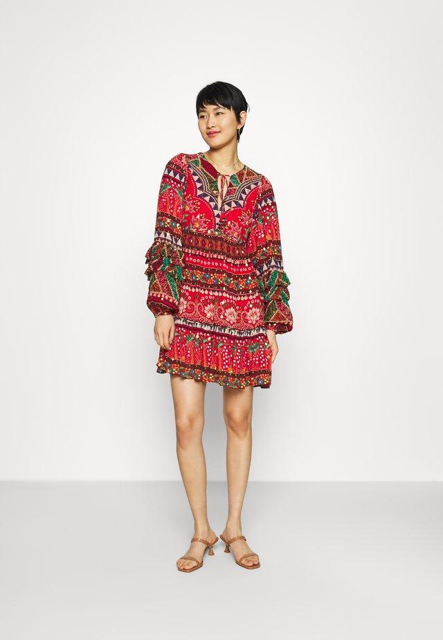 TROPICAL SHINE MINI DRESS - Denní šaty - multi
