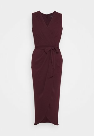 LIZA WRAP MIDI DRESS - Shift dress - burgundy