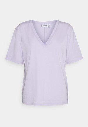 LAST V NECK - T-shirt basic - lilac