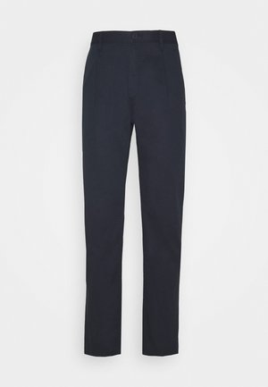 PAPER POP PLEAT PANT - Kangashousut - dark midnight