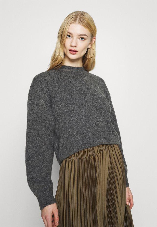 AGGIE  - Sweter - dark grey melange