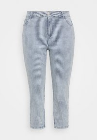 Simply Be - STRIPE CROP SLIM  - Jeans slim fit - blue - 0