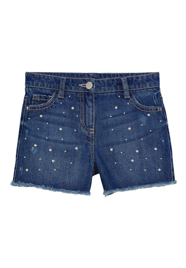 DARK BLUE PEARL DENIM SHORTS (3-16YRS) - Shorts vaqueros - blue
