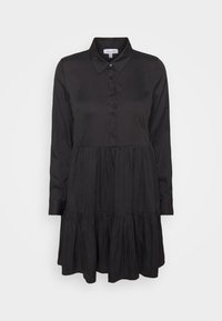 RAISED WAIST SMOCK DRESS - Shirt dress - black