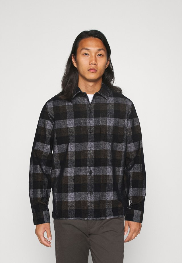 WYMAN CHECK CORD - Skjorte - deep black