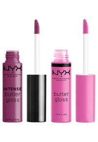 Nyx Professional Makeup - 2ME, LUV ME BUTTER LIP GLOSS DUO-SET - Lip palette - berry pink/neutral pink - 1
