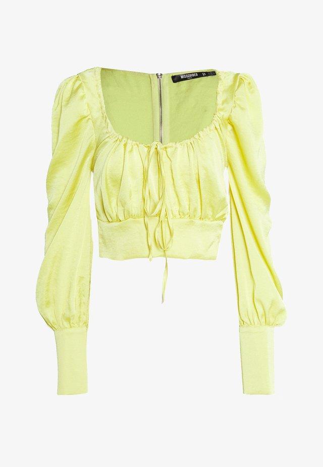 SQUARE NECK - Bluzka - yellow