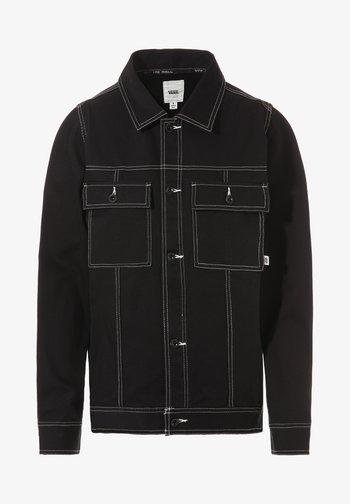 WM IN THE KNOW JACKET - Denim jacket - black