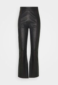 HOSBJERG - TAILOR PANT - Leather trousers - black - 0