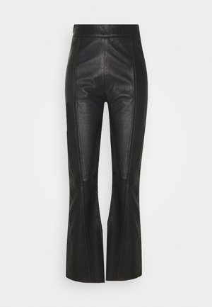 TAILOR PANT - Nahkahousut - black