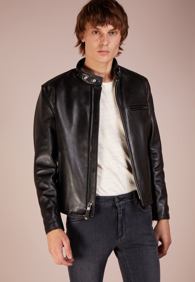 CLASSIC CAFE RACER - Leather jacket - black