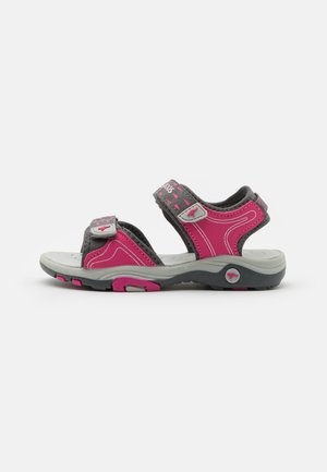 K-BLONDE - Walking sandals - steel grey/fandango pink