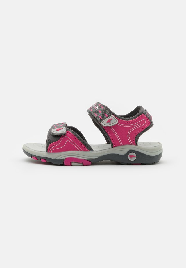 K-BLONDE - Outdoorsandalen - steel grey/fandango pink