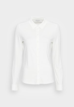 BLOUSE LONG SLEEVE COLLAR BUTTON PLACKET - Skjorte - white sand