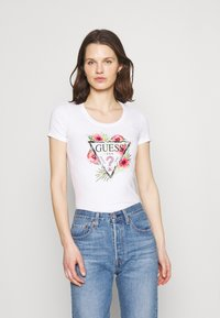 Guess - REBECCA TEE - Camiseta estampada - true white - 0