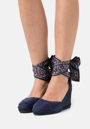 GLOBO - Sandály na vysokém podpatku - ultramarino/pañuelo prin