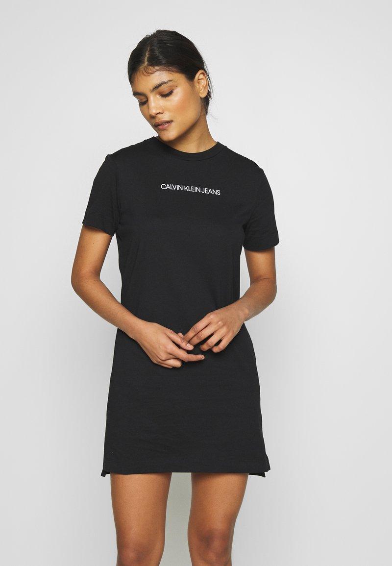 Calvin Klein Jeans - INSTITUTIONAL DRESS - Žerzejové šaty - black