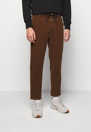 X-LENT TAPERED - Trousers - chocolate brown