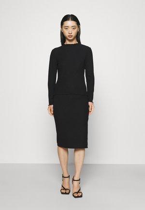 ONLNELLA SKIRT SET - Long sleeved top - black